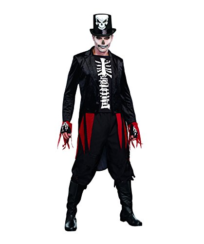 Dreamgirl Men's Mr. Bones Costume, Black, Large ()