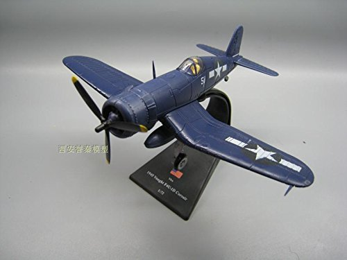 AMER 1/72 Scale Military Model Toys USAF F4U-1D Corsair Fighter Diecast Metal Plane Model Toy for (F4u 1d Corsair Model)