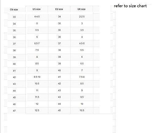 XiaoGao super tacon de zapatos negro cm Blanco 18 SPxwprHqS