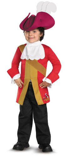 Disguise Jake and The Neverland Pirates Captain Hook Toddler/Child Costume (Small 2T) -