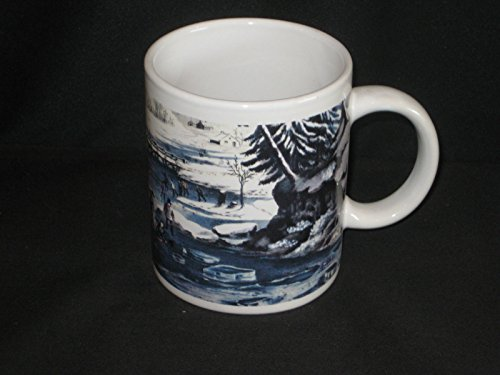 Currier & Ives Holiday American Winter Scene Morning Coffee Mug