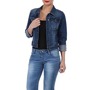 2e4d4fe160d8 La Modeuse - Veste en jeans couture camel  Amazon.fr  Vêtements et ...