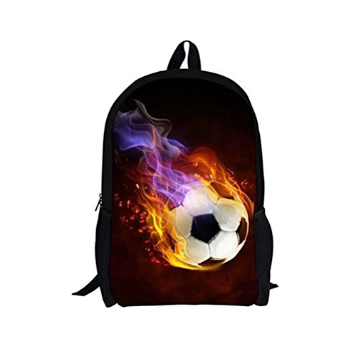 Backpacks for Kids, Cool 4D Soccer Printed School Backpacks for Boys Girls Teens Book Bags (4d Adult Football)
