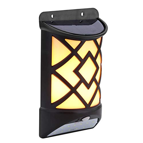 alloet Solar Flame Effect Motion Sensor LED Wall Light Outdoor Garden Yard Lamp by alloet