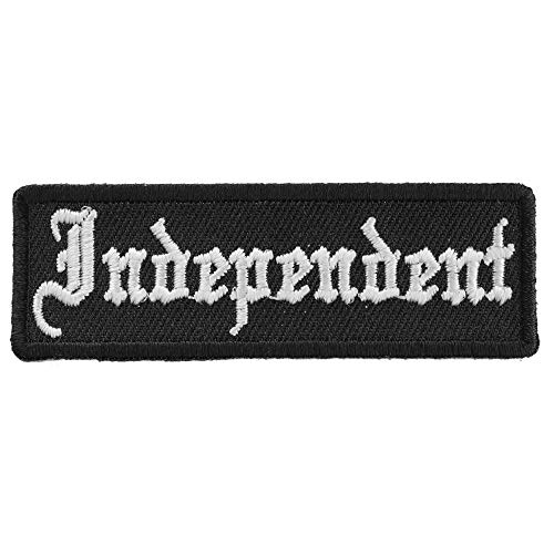 Independent Patch - 3x1 inch. Embroidered Iron on Patch