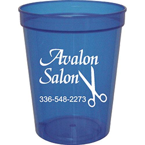 16 oz. Translucent Stadium Cups BLUE,full case of 500
