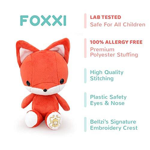 Bellzi Orange Fox Stuffed Animal Plush Toy – Adorable Plushie Toys and Gifts! – Foxxi
