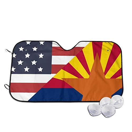 USA Flagge Bilder Auto Sun Shade for Windshield Foldable Cute Car Sunshade Blocks UV Rays Sun Visor Protector (Ein Bild Von Ray-ray)