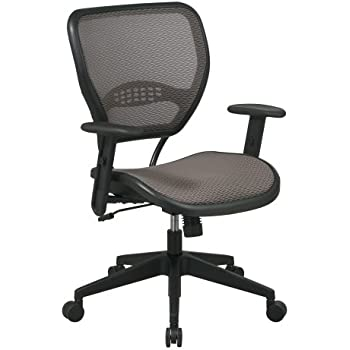 SPACE Seating AirGrid Latte Back And Mesh Seat, 2 To 1 Synchro Tilt