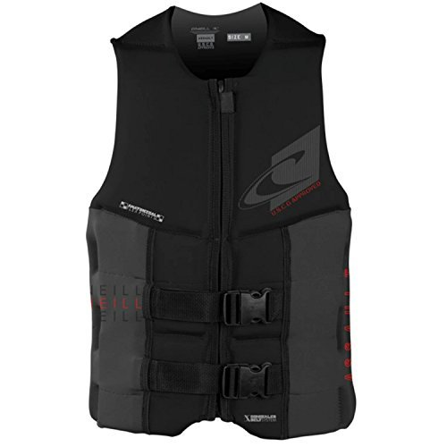 O'Neill Wetsuits Wake Waterski Mens Assault USCG Life Vest, Black/Graphite, XX-Large by O'Neill Wetsuits (Auto Oneill)