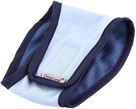 RC GearPro Pet Male Dog Physiological Pants Diapers, Washable Belly Bands Puppy Diaper Wrap Band for Male Dogs Sanitary Pant (XL, Blue)