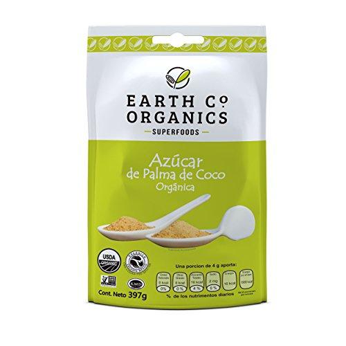 Earth Co Organics Azúcar de Palma de Coco, 397 g