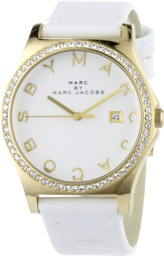 Marc by Marc Jacobs Women's MBM1145 Henry Glitz White Dial Watch
