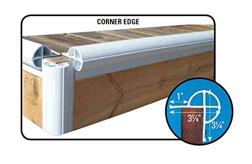 Dock Edge + Inc. Premium PVC Dock Bumper Corner Edge Profile, 6-8-Feet Sections (48-Feet, White), Pack of 6 by Dock Edge (Image #2)