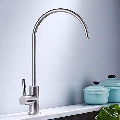 Yadianna バスルームのシンクのためのバスルームのシンクミキサータップ304のステンレス鋼の冷たい水タップ