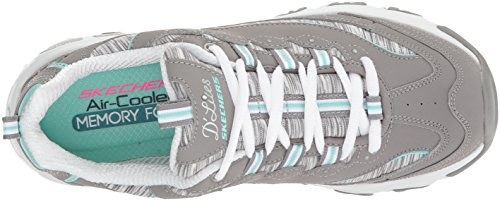 Skechers Sport Dames Dlites Interlude Sneaker Grijze Mint