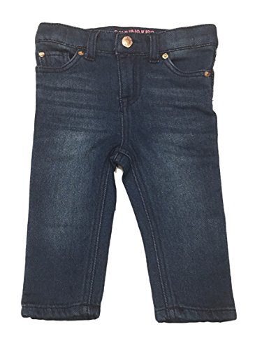 Genuine Kids from OshKosh Knit Denim Jegging Adjustable Waist Super Stretch Jeans (12M, Denim Blue)