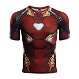 GYM GALA Iron Man Shirt Casual and Sports Short