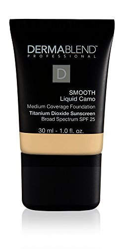 Dermablend Smooth Liquid Camo Medium to High Coverage Foundation Makeup with SPF 25, 0c Linen, 1 fl. oz.