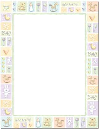 new baby letterhead 100 sheets by masterpiece studios
