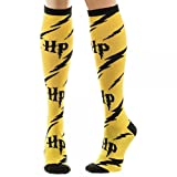 Yellow Harry Potter Logo Knee High Socks, Sock Size: 9-11, Shoe Size: 5-10