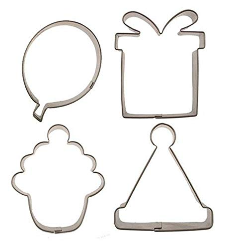 Autumn Carpenter - Cutie Cupcake Cutter Set - Birthday - Includes a Birthday Hat, Cupcake, Present, and Balloon