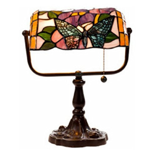 - Warehouse of Tiffany's KS61MB51 Tiffany Style Banker Butterfly Desk Lamp, 10