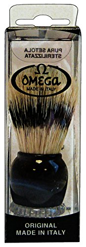 Omega Shaving Brush Pure Bristles #10275 Two Color Combination