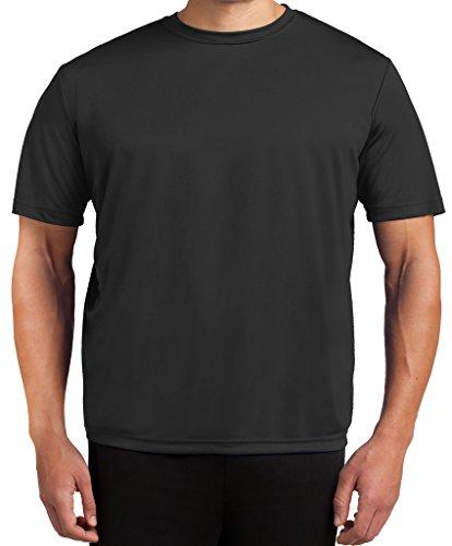 Tall Men's Moisture Wicking Performance T-Shirt SOLID by Sport-Tek Black 2XLT #350A