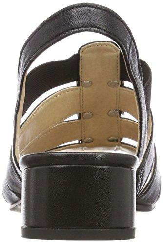 Donna 22 Nero Cinturino 28200 Caviglia black Con Alla Caprice Nappa Sandali 6RCnOB6Y