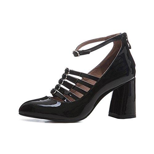 WSXY Elegante Tacchi A2904 black Mary Party KJJDE Janes d'onore Taglia Damigella Chiusematrimonio Donna qwaW6tA