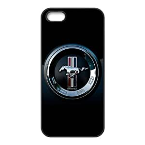 Car Ford Mustang Logo Cool Unique Apple Iphone 5 5S Durable Hard Plastic Case Cover CustomDIY