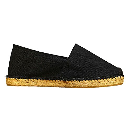 Hand Spain Men's Thread in Black Made DIEGOS Espadrilles Women's Black waPZWqtqxA