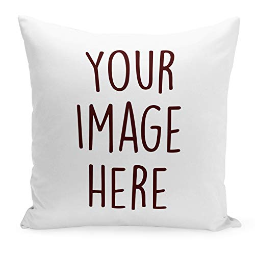 Decorative Photo Pillow Cases for Mom and Grandma   Home Decor - 14x14 Personalized Decorative Throw Pillow Cover with Picture Print   Custom Cushion Cover for Couch or Sofa - Photo Gifts