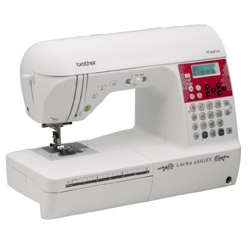 - Brother Laura Ashley Limited Edition PC660LA Computerized Sewing & Quilting Machine with 3 Built-in Sewing Fonts