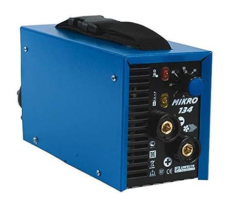 Soldadura de electrodos MMA inverter Awelco Mikro 124 con maletín: Amazon.es: Bricolaje y herramientas