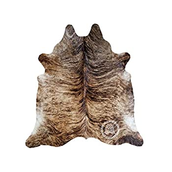 Image of Brindle Cowhide Rug Approx Size 6ft x 8 ft 180cm x 240 cm