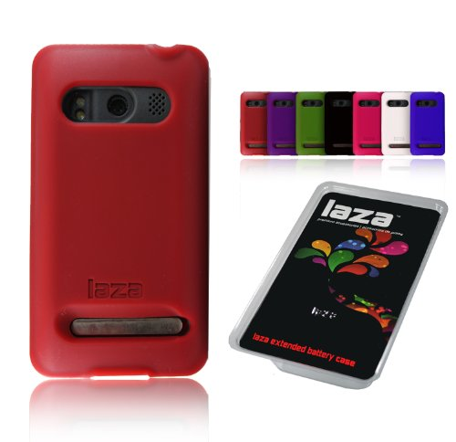 Laza Sprint HTC Evo 4G Extended Battery Silicone Case Red
