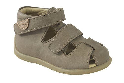 MOVE Geschlossene Sandale Lauflerner Jungen - Botas de senderismo Bebé-Niñas Beige (Medium brown)