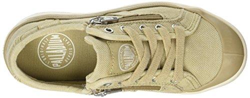 Palladium Unisex-Kinder Pallarue Zip Cvs Sneaker Beige (Sahara/Marshmallow)