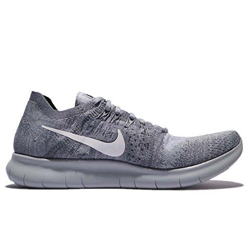 Nike Men's Free- RN Flyknit 2017 Running Shoe Wolf Grey/White-anthricite