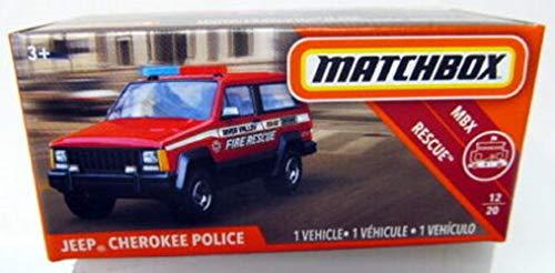 Matchbox Rescue Series, Burnt Orange Jeep Cherokee Police ()