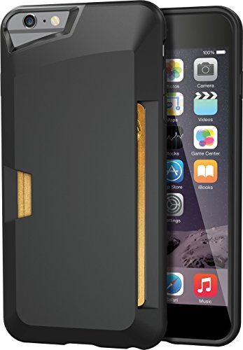 iPhone 6 Plus/6s Plus Wallet Case - Vault Slim Wallet for iPhone 6+/6s+ (5.5') by Silk - Ultra Slim Protective Credit Card Phone Cover (Midnight Black)
