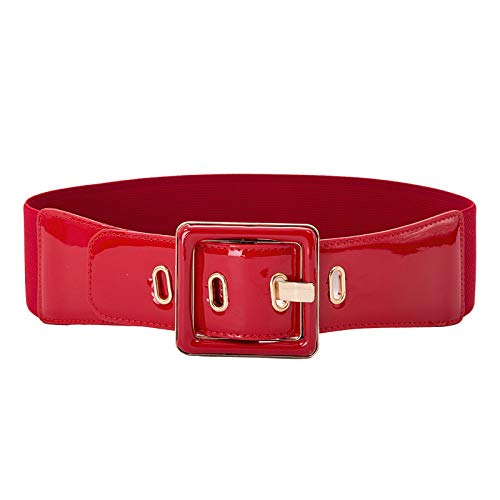 Hanna Nikole Women's Retro Adjustable Elastic Buckle Waist Cinch Belt