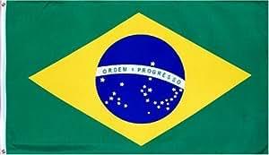 Brasil Nacional Bandera de país: 3x 5ft Poliéster por bandera Inc.