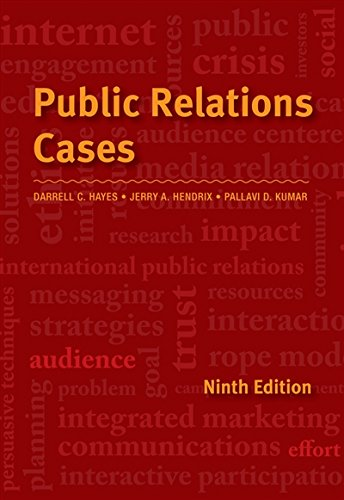 Public Relations Cases by Cengage Learning