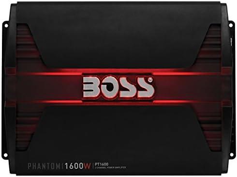 BOSS Audio PT1600 2 Channel Car Amplifier – 1600 Watts, Full Range, Class  A/B, 2-8 Ohm Stable, MOSFET Power Supply, Bridgeable