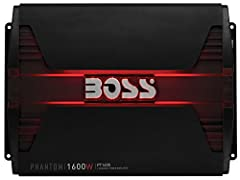 Drive up the volume with the Boss Audio Phantom PT1600 2-Channel Class A/B Full Range Amplifier. This powerful 2-Ohm stable amplifier features 1600 Watts Max Power with a MOSFET power supply to rock your tunes. Customize the sound with the Va...