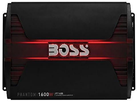 BOSS Audio PT1600 Phantom 1600 Watt, 2 Channel, 2/4 Ohm Stable Class A/B, Full Range, Bridgeable, MOSFET Car Amplifier with Remote Subwoofer (Car Subwoofers)