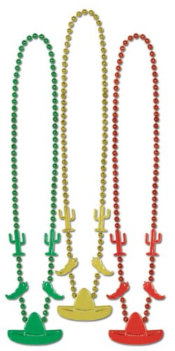 Fiesta Beads (asstd gold, green, red)    (3/Card)